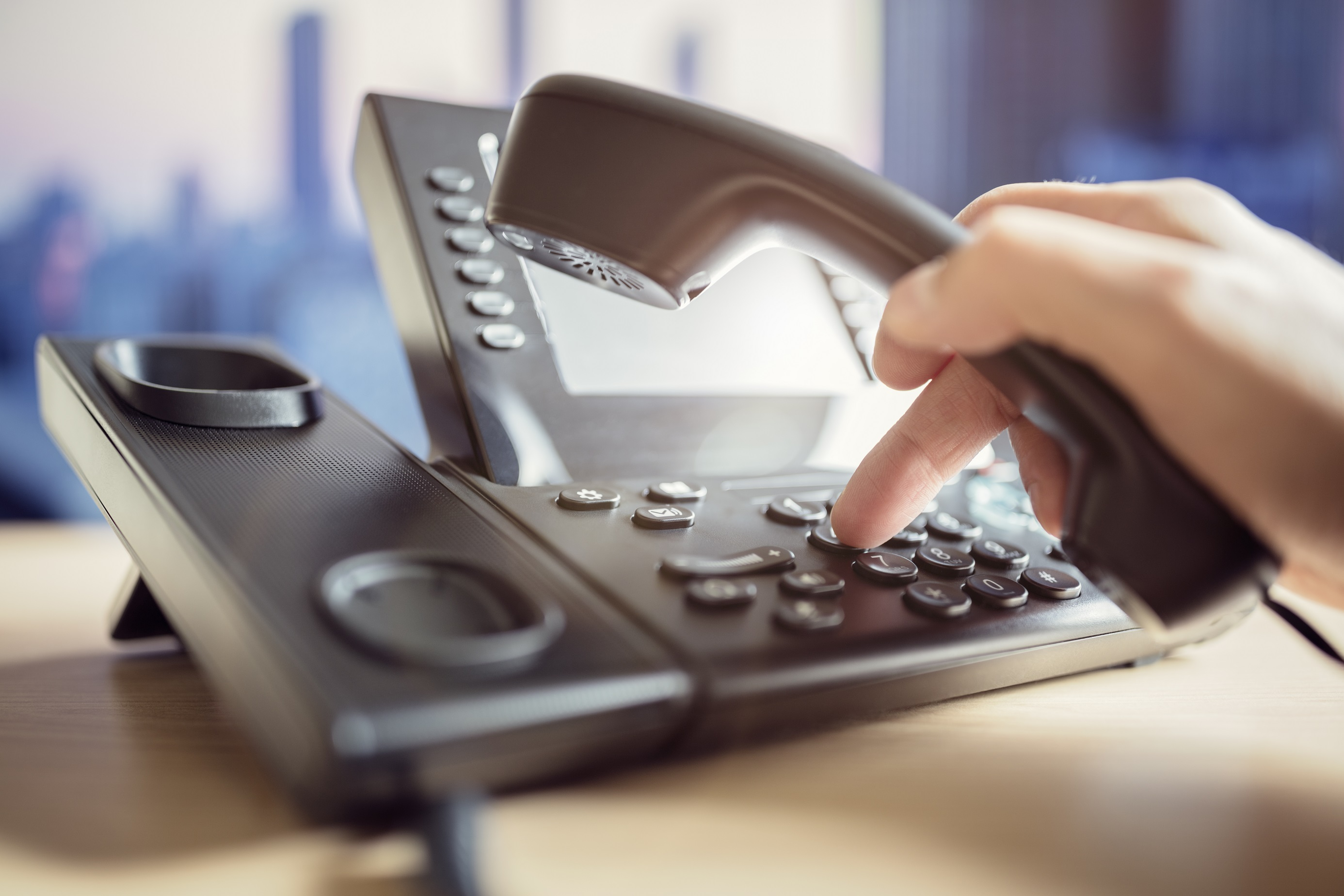 Image of a phone for business landlines page by business telephony experts, Claritel