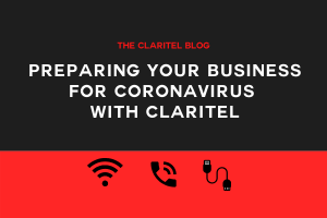 Title graphic for Claritel blog about preparing your business for coronavirus