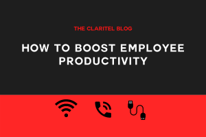 Title graphic for Claritel blog about boosting employee productivity